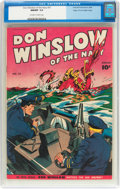 Golden Age (1938-1955):War, Don Winslow of the Navy #37 Mile High Pedigree (Fawcett Publications, 1946) CGC NM/MT 9.8 Off-white to white pages....