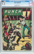 Golden Age (1938-1955):Crime, Punch Comics #18 (Chesler, 1946) CGC NM 9.4 Off-white to white pages....