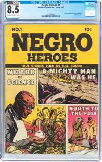 Negro Heroes #1 (Parents' Magazine Institute, 1947) CGC VF+ 8.5 Cream to off-white pages