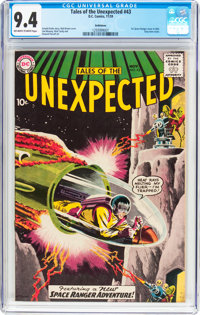 Tales of the Unexpected #43 Bethlehem Pedigree (DC, 1959) CGC NM 9.4 Off-white to white pages
