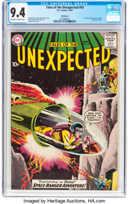 Tales of the Unexpected #43 Bethlehem Pedigree (DC, 1959) CGC NM 9.4 Off-white to white pages....