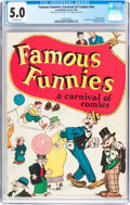 Platinum Age (1897-1937):Miscellaneous, Famous Funnies: A Carnival of Comics #nn (Eastern Color, 1933) CGCVG/FN 5.0 Off-white pages....