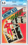 Silver Age (1956-1969):Superhero, Showcase #4 The Flash (DC, 1956) CGC FN- 5.5 Off-white to whitepages....