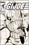 Original Comic Art:Covers, Paul Ryan and Bob McLeod G.I. Joe #85 Cover Storm Shadow Original Art (Marvel, 1989)....