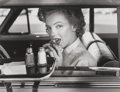 Photographs, Philippe Halsman (American, 1906-1979). Marilyn at the Drive-In, 1952. Gelatin silver, 1981. 10 x 13 inches (25.4 x 33 c...