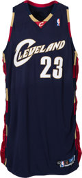 Basketball Collectibles:Uniforms, 2005-06 LeBron James Game Worn Cleveland Cavaliers Jersey....