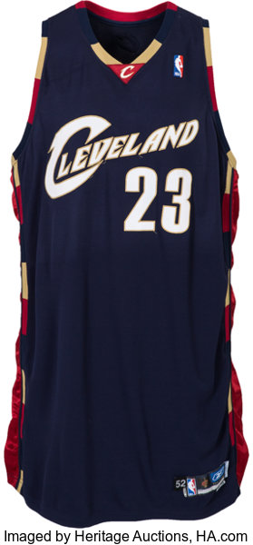 the best attitude e02ff 54bb3 2005-06 LeBron James Game Worn Cleveland Cavaliers Jersey ...