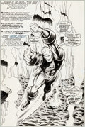 Original Comic Art:Splash Pages, George Tuska and Jim Mooney Iron Man #43 Splash Page 9Original Art (Marvel, 1971)....