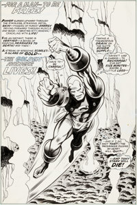 George Tuska and Jim Mooney Iron Man #43 Splash Page 9 Original Art (Marvel, 1971)