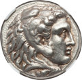 Ancients:Greek, Ancients: MACEDONIAN KINGDOM. Alexander III the Great (336-323 BC).AR tetradrachm (17.09 gm). NGC XF 5/5 - 4/5....