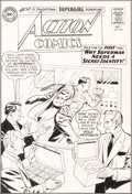 Original Comic Art:Covers, Curt Swan and George Klein Action Comics #305 Cover Original Art (DC, 1963)....