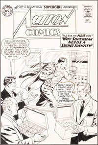 Curt Swan and George Klein Action Comics #305 Cover Original Art (DC, 1963)