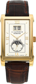 Timepieces:Wristwatch, A. Lange & Sohne Very Fine Ref. 118.032 Gold Cabaret Moonphase.. ...
