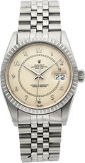 "Timepieces:Wristwatch, Rolex Ref. 16030 Steel ""Boiler Gauge"" Dial Oyster Perpetual Datejust, circa 1985. ..."