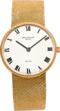 Timepieces:Wristwatch, Patek Philippe Ref. 3513/1 Gold Wristwatch Retailed By Beyer, circa 1965. ...