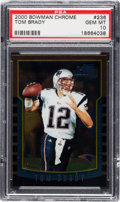 Football Cards:Singles (1970-Now), 2000 Bowman Chrome Tom Brady #236 PSA Gem Mint 10....