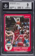 Basketball Cards:Singles (1980-Now), 1984-85 Star Co. Michael Jordan #101 BGS Mint 9. ...