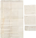 Political:Small Paper (pre-1896), Indiana State Elections of 1864: Poll Books and Tally Sheet....
