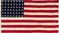 Political:Textile Display (1896-present), American Flag Flown Over the Capitol in 1968....