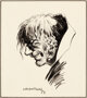 """Bernie Wrightson """"Man with Two Faces"""" Illustration Original Art (1973)"""