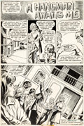 Original Comic Art:Complete Story, John Calnan The Unexpected #158 Complete 8-Page StoryOriginal Art (DC, 1974).... (Total: 8 Original Art)