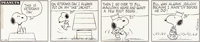 Charles Schulz Peanuts Daily Comic Strip Snoopy Original Art dated 10-22-73 (United Feature Syndicate, 1973)