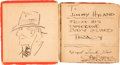 Original Comic Art:Sketches, Chester Gould - Dick Tracy Sketch Original Art in Big LittleBook #W-707 (Whitman Publishing, c. 1930s) Condition:...