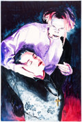 Original Comic Art:Paintings, Ken Meyer Jr. - Vampire Woman Watercolor Painting Original Art(1997)....