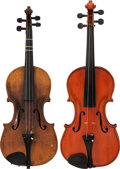 Musical Instruments:Violins & Orchestra, Lot of Two Violins.... (Total: 2 )