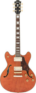 Musical Instruments:Electric Guitars, Circa 2000 Hohner HS-35 Orange Semi-Hollow Body Electric Guitar,Serial #DC05030288....