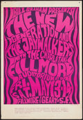 """Movie Posters:Rock and Roll, New Generation and The Jaywalkers at the Fillmore Auditorium (BillGraham, 1966). Concert Window Card (13.75"""" X 20"""") 2nd Pri..."""