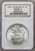 Morgan Dollars, 1878 7TF $1 Reverse of 1878 MS64 NGC. NGC Census: (3771/527). PCGSPopulation: (2968/698). CDN: $205 Whsle. Bid for problem...