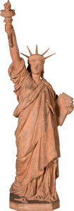 Antiques:Decorative Americana, Statue of Liberty: Terracotta Maquette or Working Model....