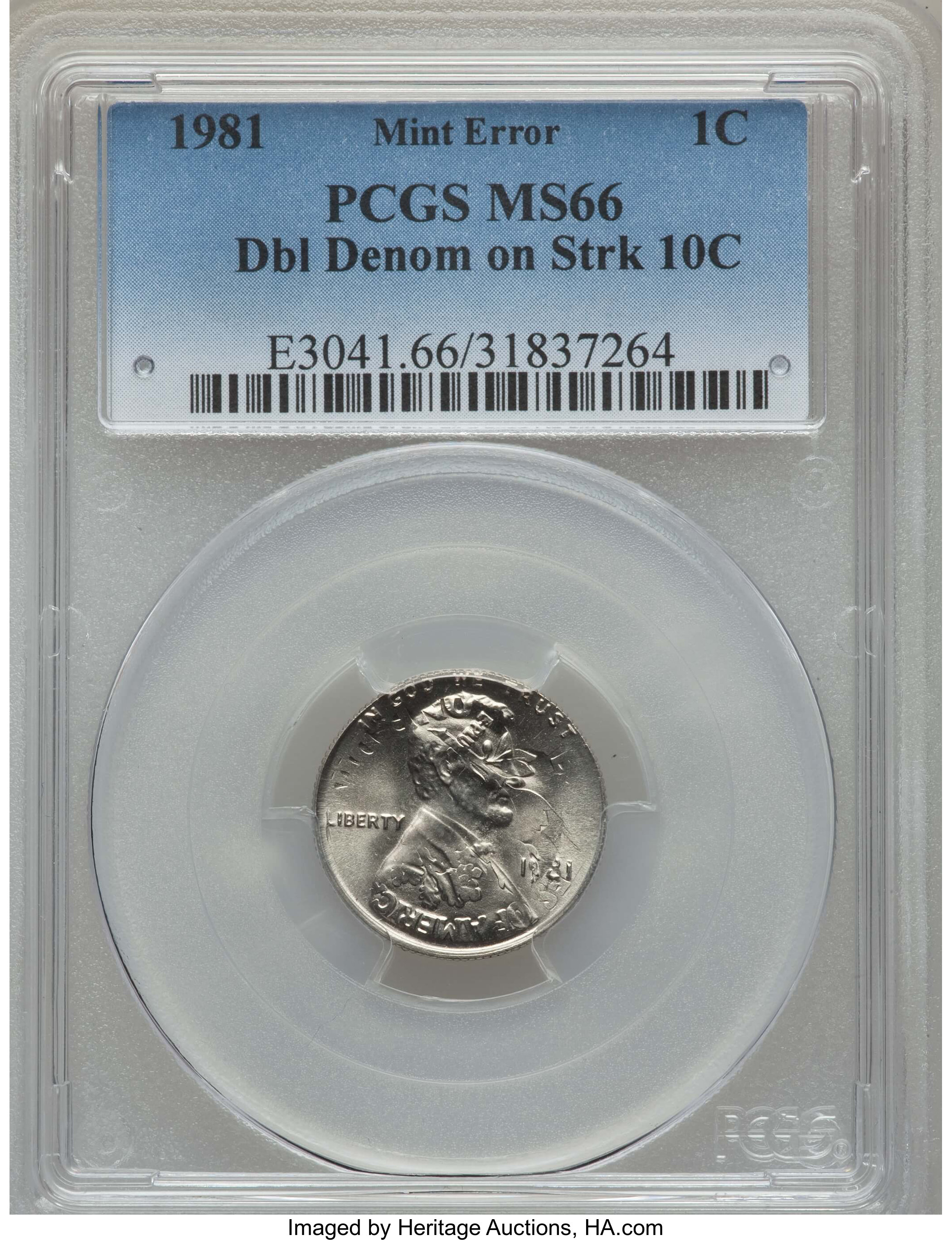 1981 D Lincoln Cent PCGS MS 66 RD