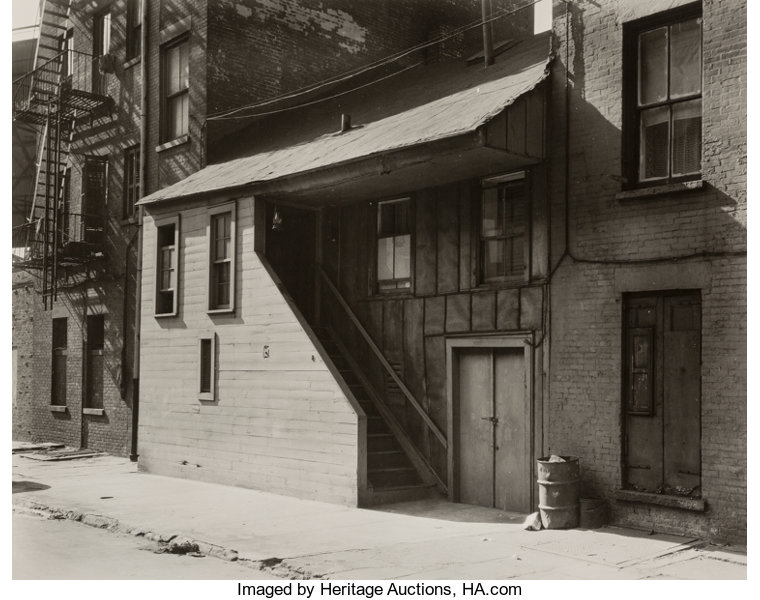 Berenice Abbott (American, 1898-1991)  Oldest Frame House in