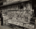 , Berenice Abbott (American, 1898-1991). Newsstand, SouthwestCorner of 32nd Street and Third Avenue, November 19, 1935. G...