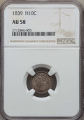 Seated Half Dimes: , 1839 H10C No Drapery AU58 NGC. NGC Census: (36/226). PCGS Population: (37/194). CDN: $180 Whsle. Bid for problem-free NGC/P...