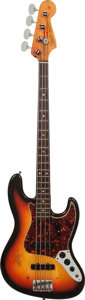 Musical Instruments:Bass Guitars, 1966 Fender Jazz Bass Sunburst Electric Bass Guitar, Serial # 116405....