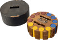 Miscellaneous:Gaming Chips, Complete Rack of Bakelite Casino Chips....