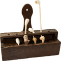 Antiques:Decorative Americana, American Primitive Wooden Pipe Rack....
