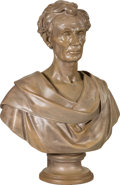 Political:3D & Other Display (pre-1896), Abraham Lincoln: Original Life-Size Classical Bust by Leonard Volk....