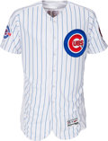 Baseball Collectibles:Uniforms, 2016 Aroldis Chapman Game Worn Chicago Cubs Jersey. ...
