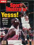 Basketball Collectibles:Publications, 1992 Michael Jordan Signed Sports Illustrated Magazine. ...