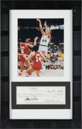 """Basketball Collectibles:Others, 1986 Pete Maravich Signed Check to """"Feed The Children."""". ..."""