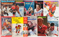 Hockey Collectibles:Publications, Hockey Greats Signed Vintage Magazines Lot of 9....