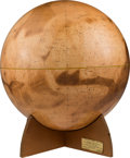 Explorers:Space Exploration, Mariner 9 Visual Relief Mars Globe by Denoyer-Geppert, First Edition, 1973....