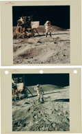 "Explorers:Space Exploration, Apollo 16 Original NASA ""Red Number"" Flag Salute Color Photos.... (Total: 2 Items)"