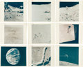 "Explorers:Space Exploration, Apollo 15: Collection of Nine Original NASA ""Red Number"" LunarColor Photos.... (Total: 9 Items)"