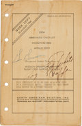 "Explorers:Space Exploration, Apollo 1 Crew-Signed ""Crew Abbreviated Checklist Mission AS-204AApollo SC012"", a Working Copy from a Lead Writer at North Ame..."