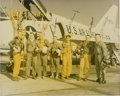 Autographs:Celebrities, Mercury Seven Astronauts: Vintage Color Photo Signed Authentically by Five including Shepard, Grissom, and Glenn. ...